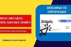 Descargar el certificado del SISBEN