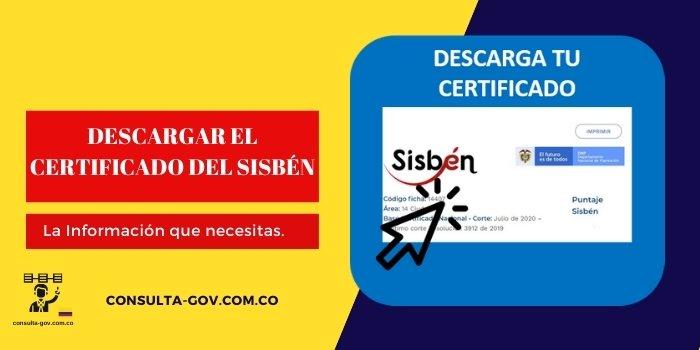 descargar el certificado del sisbén