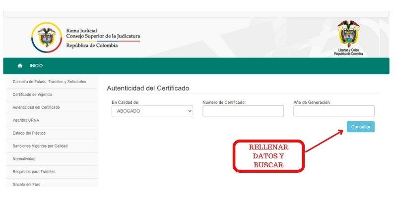 autenticidad de certificado
