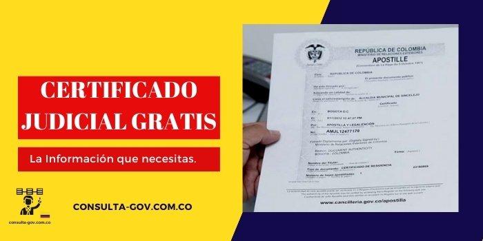 certificado judicial gratis