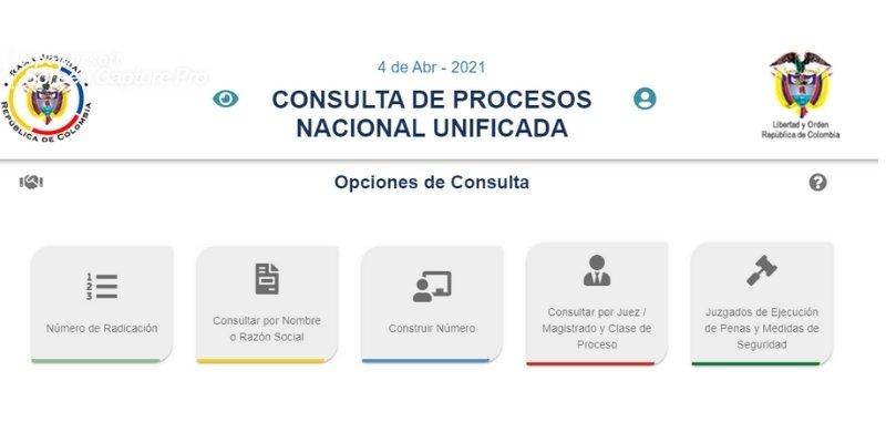 consultar de procesos nacional unificada