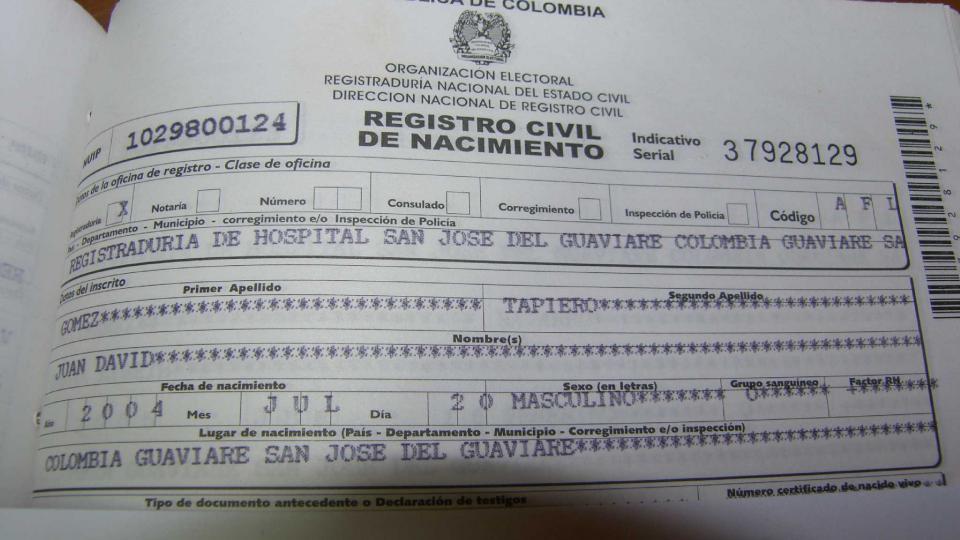 registro civil nacimiento colombia