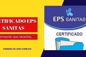 Descargar certificado Sanitas EPS