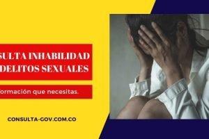 Consulta de inhabilidades por delitos sexuales