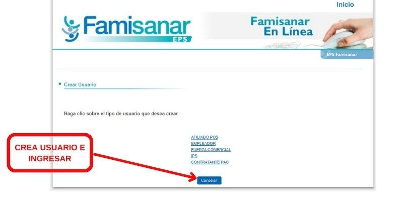 crear usuario famisanar