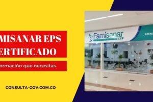 Famisanar eps certificado