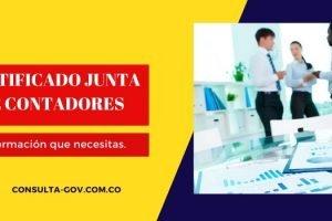 Obtener certificado junta de contadores