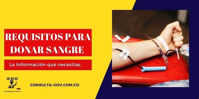 requisitos para donar sangre