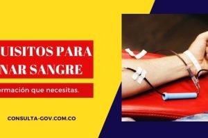 Requisitos para donar sangre en Colombia