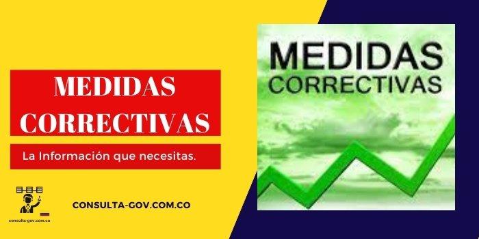 medidas correctivas