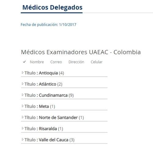 medicos delegados