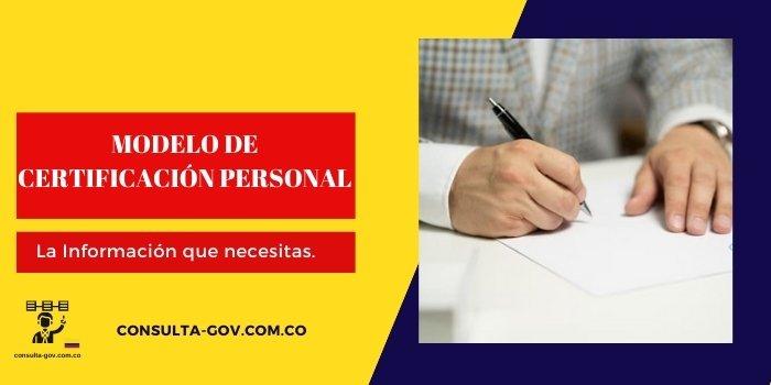modelo de certificacion personal
