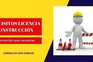 Requisitos licencia de construcción