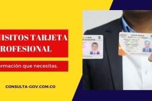 Requisitos tarjeta profesional
