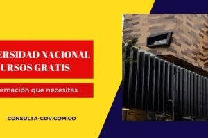Universidad nacional cursos gratis